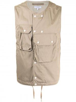 Жилет с накладными карманами Engineered Garments. Цвет: коричневый