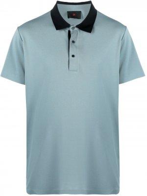 Рубашка поло с контрастным воротником Peuterey. Цвет: синий