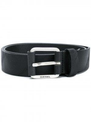 Engraved logo belt Diesel. Цвет: черный