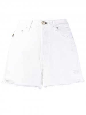 Джинсовые шорты средней посадки Rag & Bone. Цвет: белый