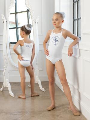 Комплект для девочек (майка-топ, трусы) Arina Ballerina. Цвет: белый