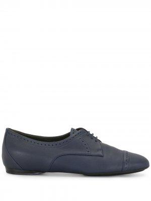 Оксфорды на шнуровке Hermès. Цвет: синий