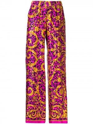 Расклешенные брюки с принтом P.A.R.O.S.H.. Цвет: розовый