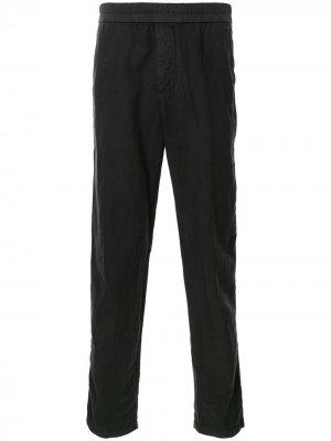 Прямые брюки с эластичным поясом James Perse. Цвет: черный