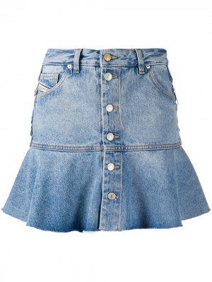 Джинсовая юбка с расклешенным подолом Diesel. Цвет: синий