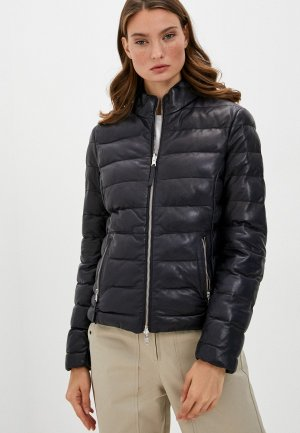 Куртка кожаная Blouson. Цвет: разноцветный