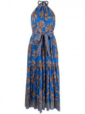 Платье макси Joyette Alexis. Цвет: синий