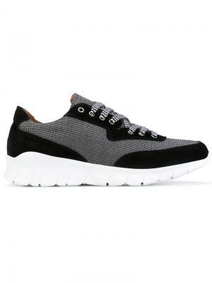 Двухцветные кроссовки с панельным дизайном Paul & Joe. Цвет: чёрный