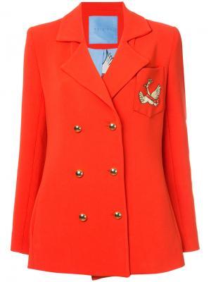Двубортный пиджак с лебедем Macgraw. Цвет: красный