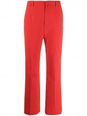 Прямые брюки строгого кроя Saint Laurent. Цвет: красный