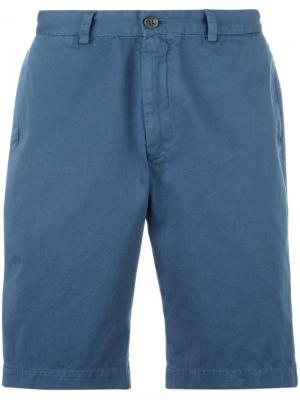 Классические шорты чинос Sunspel. Цвет: синий