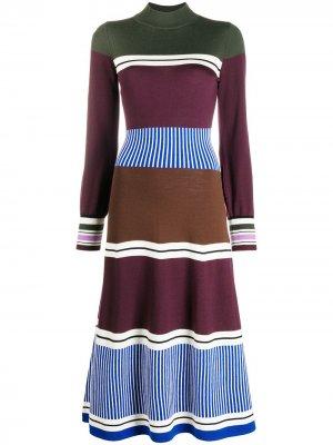Трикотажное платье со вставками Chinti and Parker. Цвет: синий