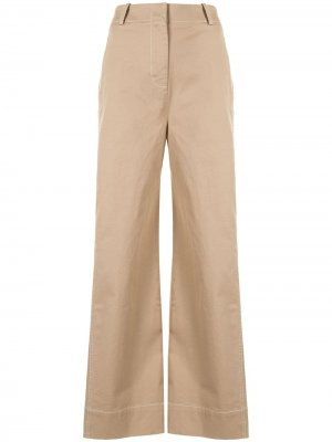 Расклешенные брюки чинос Anna Quan. Цвет: черный