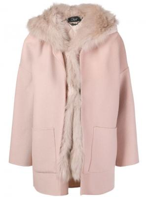 Hooded coat Clips. Цвет: розовый