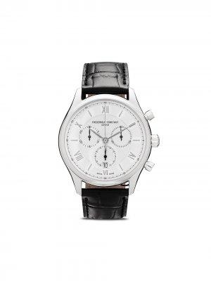 Наручные часы Classics Quart Chronograph 40 мм Frédérique Constant. Цвет: серебристый