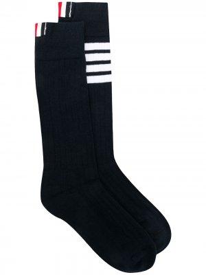 Носки в полоску с логотипом Thom Browne. Цвет: синий