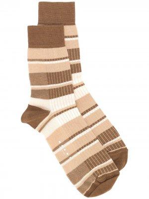 Носки в полоску Marni. Цвет: коричневый