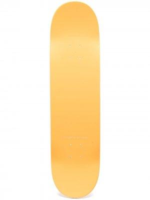 Скейтборд с логотипом PACCBET. Цвет: желтый