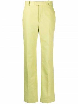 Прямые брюки с завышенной талией Bottega Veneta. Цвет: зеленый