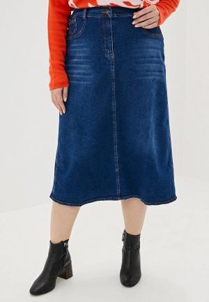 Юбка джинсовая Intikoma. Цвет: синий