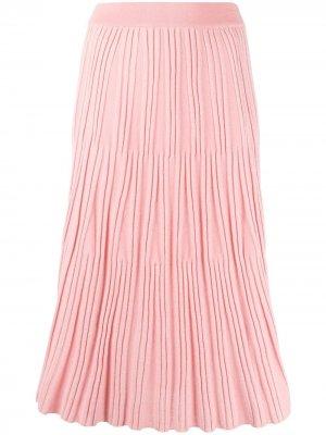 Трикотажная юбка миди Kenzo. Цвет: розовый