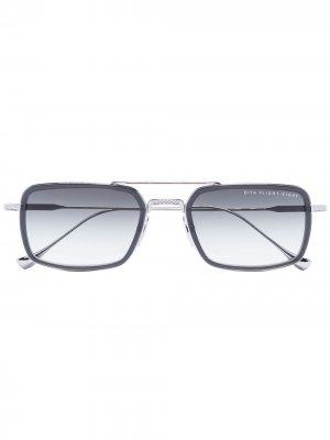 Солнцезащитные очки Mach Seven в квадратной оправе Dita Eyewear. Цвет: черный