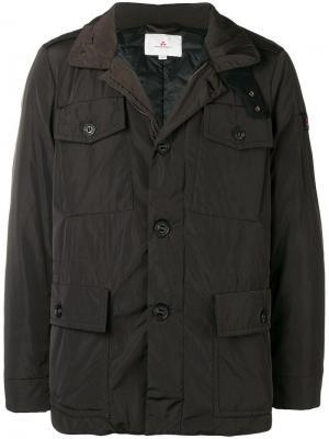Куртка на пуговицах Peuterey. Цвет: коричневый