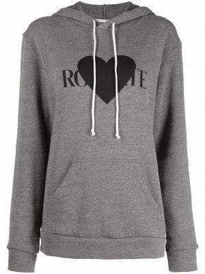 Худи с логотипом Rodarte. Цвет: серый