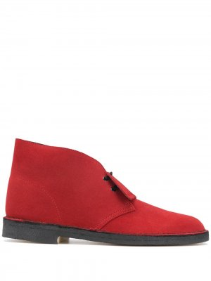 Ботинки дезерты Brandy Clarks Originals. Цвет: красный