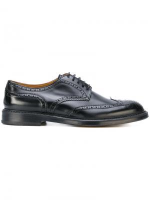 Броги со шнуровкой Doucal's. Цвет: черный