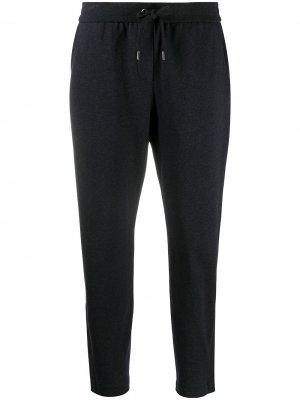 Укороченные брюки с кулиской Brunello Cucinelli. Цвет: серый