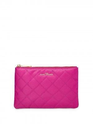 Стеганая косметичка Marc Jacobs. Цвет: розовый