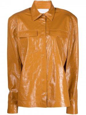 Куртка оверсайз REMAIN. Цвет: коричневый