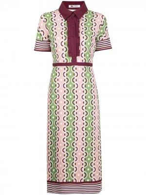 Платье с графичным принтом Ports 1961. Цвет: разноцветный