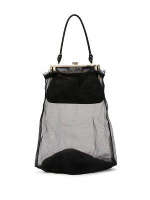 Сетчатая сумка-тоут Krizia. Цвет: черный