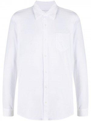 Рубашка на пуговицах Majestic Filatures. Цвет: белый