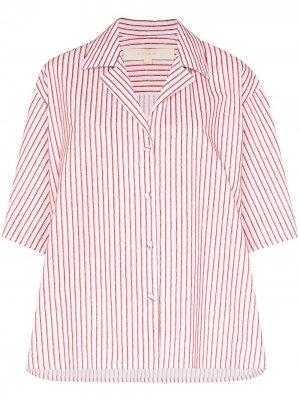 Рубашка в полоску с ремешками на рукавах By Any Other Name. Цвет: розовый