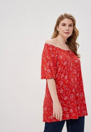 Блуза Evans. Цвет: красный