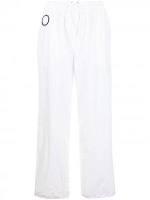 Зауженные брюки David Koma. Цвет: белый