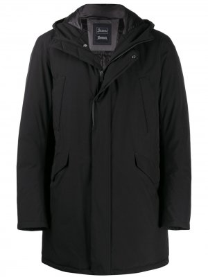 Пальто с капюшоном Herno. Цвет: черный