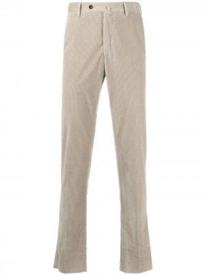 Вельветовые брюки кроя слим Pt01. Цвет: нейтральные цвета