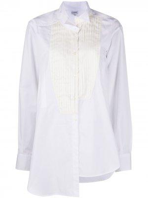 Рубашка с плиссированной манишкой LOEWE. Цвет: белый