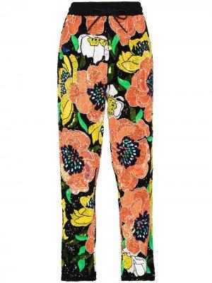 Спортивные брюки с пайетками Ashish. Цвет: черный