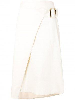 Юбка Habiba с запахом Rodebjer. Цвет: белый