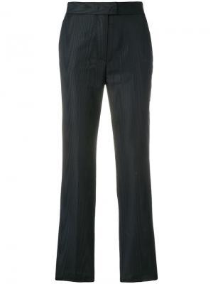 Прямые укороченные брюки MSGM. Цвет: черный