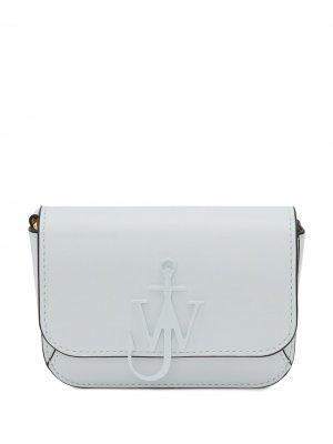 Мини-сумка с логотипом Anchor и цепочкой JW Anderson. Цвет: белый