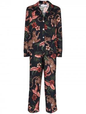 Пижама Soleia с принтом Desmond & Dempsey. Цвет: синий