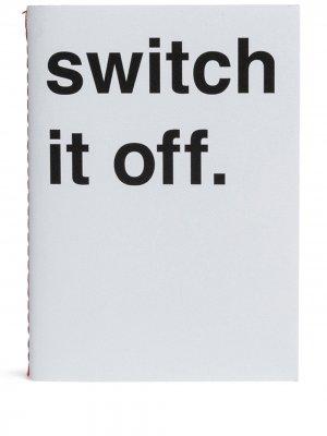 Записная книжка Switch It Off A5 Guild. Цвет: белый
