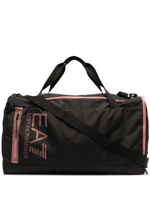 Спортивная сумка Ea7 Emporio Armani. Цвет: черный