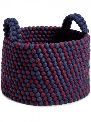 Bead wool basket Hay. Цвет: красный